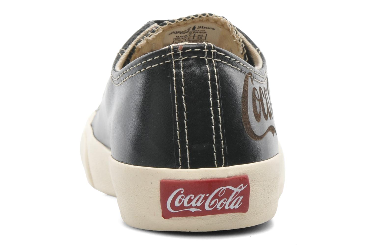 Trainers Coca-cola shoes Plain leather Low Black view from the right