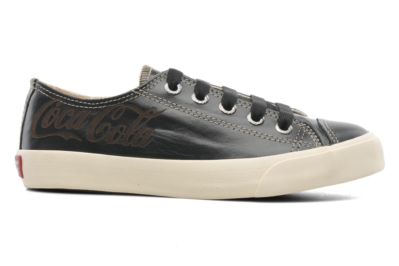 Trainers Coca-cola shoes Plain leather Low Black back view