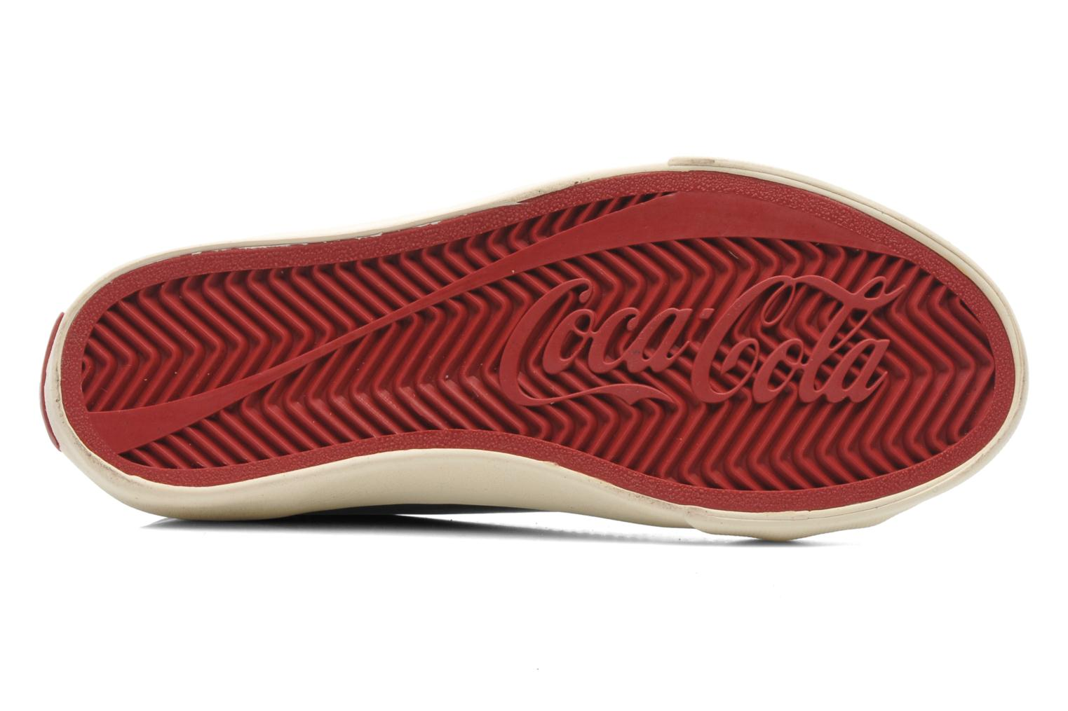 Trainers Coca-cola shoes Plain leather Low Black view from above
