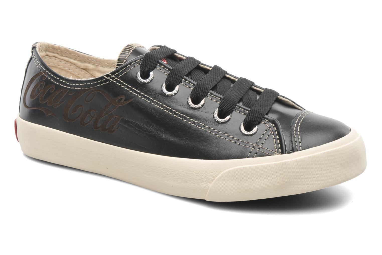 Trainers Coca-cola shoes Plain leather Low Black detailed view/ Pair view