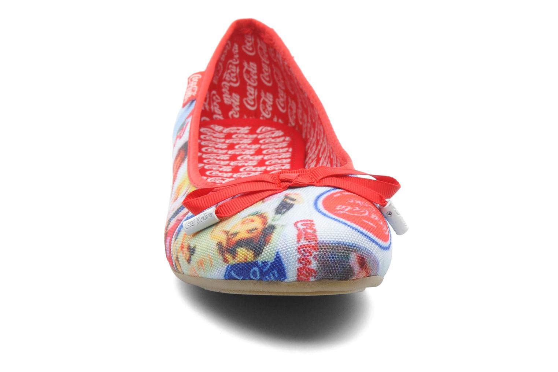 Ballerines Coca-cola shoes Rose Multicolore vue portées chaussures