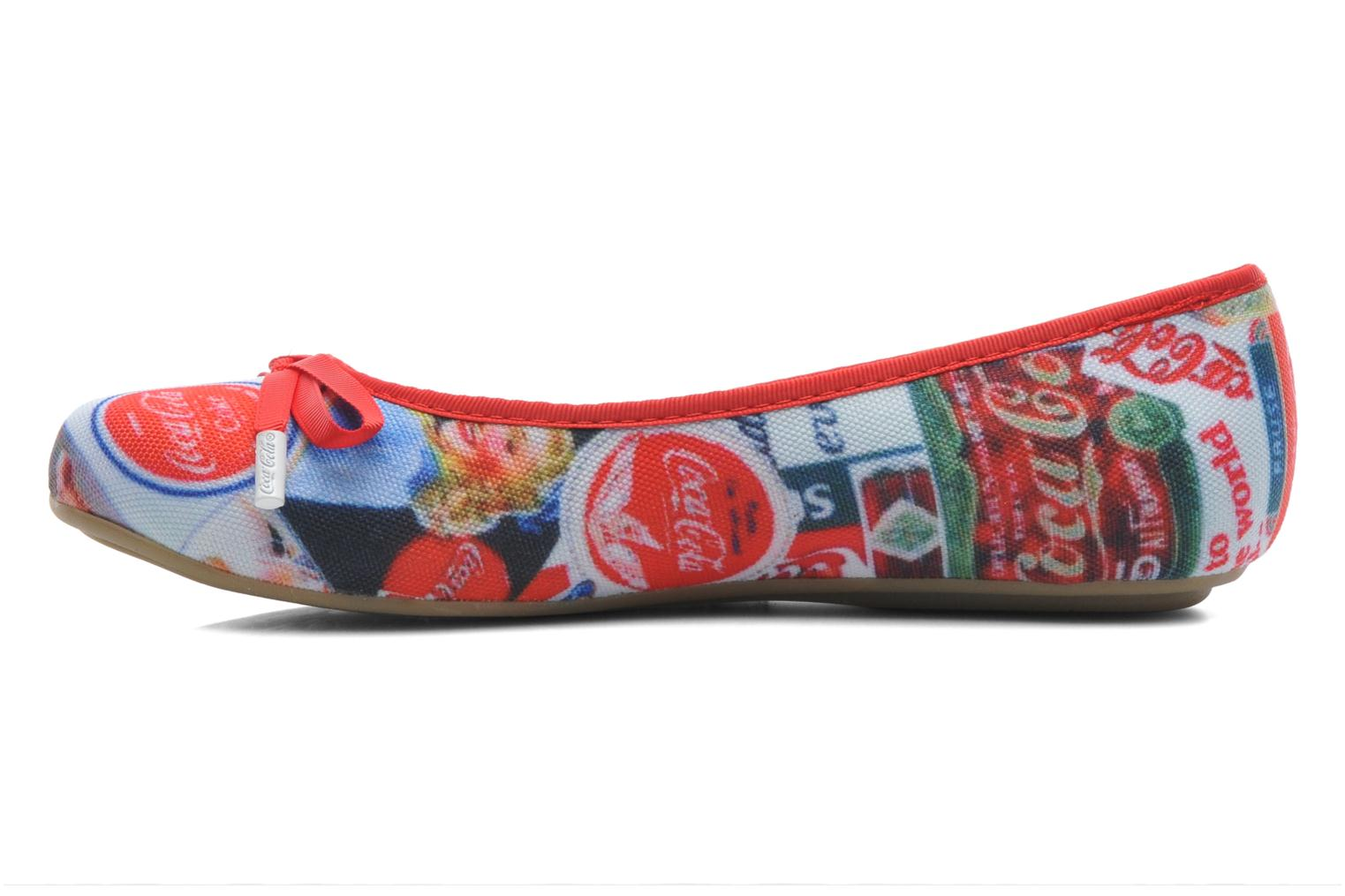 Ballet pumps Coca-cola shoes Rose Multicolor front view