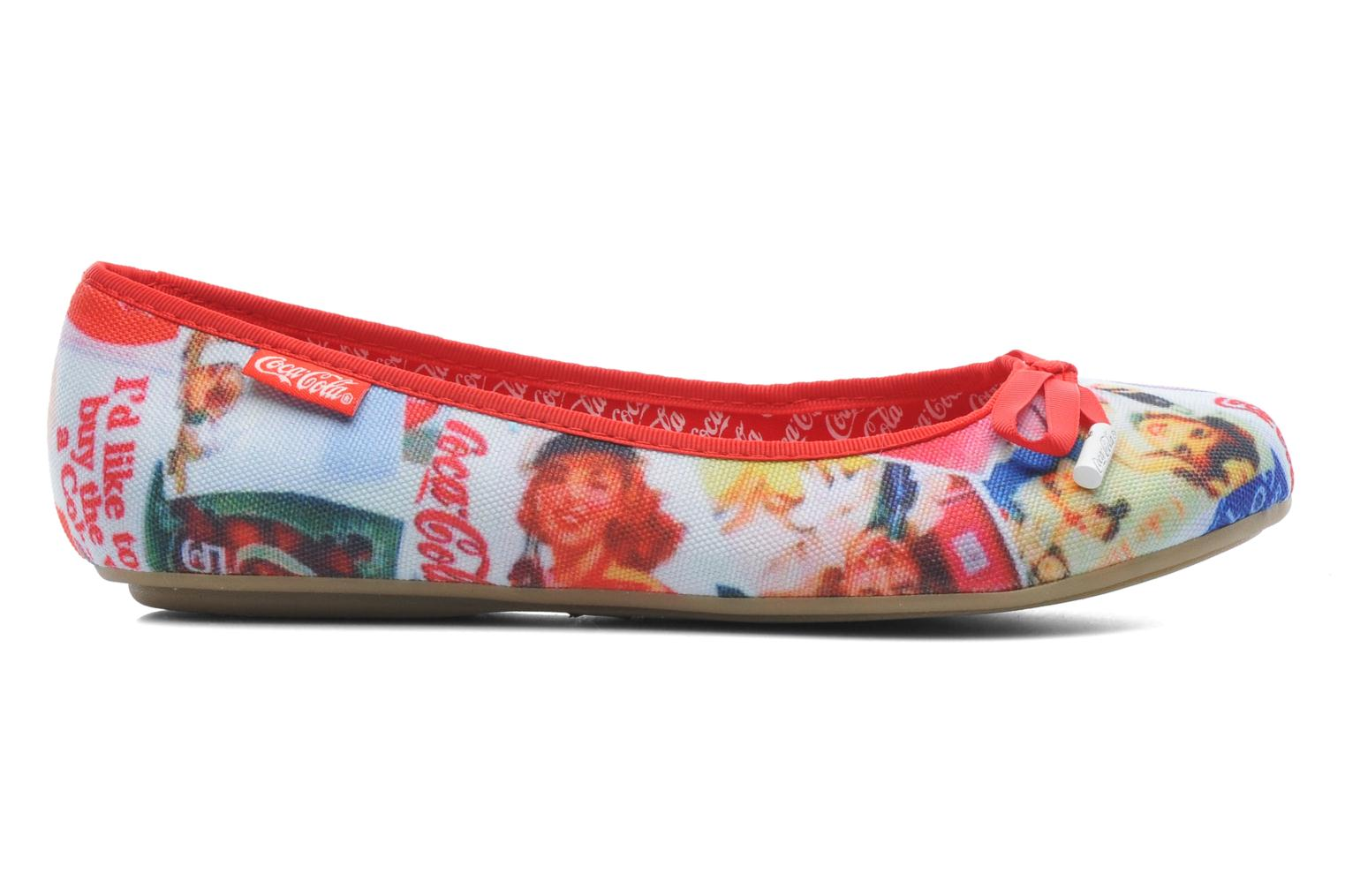 Ballet pumps Coca-cola shoes Rose Multicolor back view