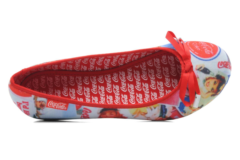 Ballerines Coca-cola shoes Rose Multicolore vue gauche