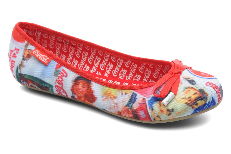 Ballerines Coca-cola shoes Rose Multicolore vue détail/paire