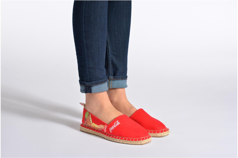 Espadrilles Coca-cola shoes Juta Retro Zwart onder