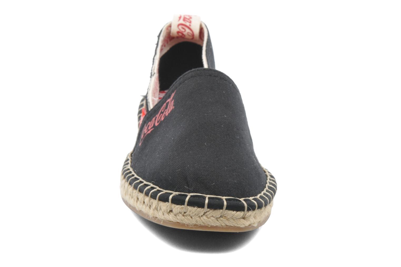Espadrilles Coca-cola shoes Juta Retro Zwart model