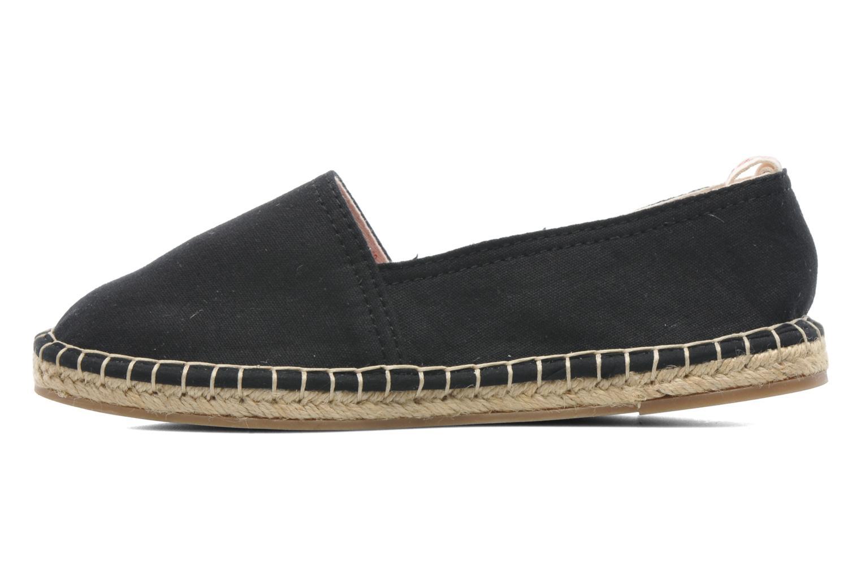 Espadrilles Coca-cola shoes Juta Retro schwarz ansicht von vorne