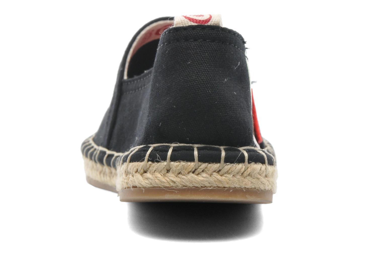 Espadrilles Coca-cola shoes Juta Retro Zwart rechts