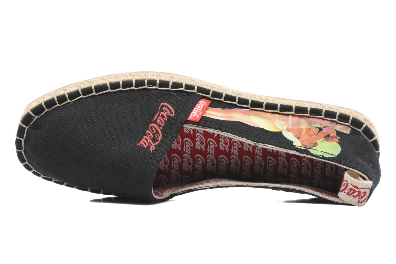 Espadrilles Coca-cola shoes Juta Retro schwarz ansicht von links