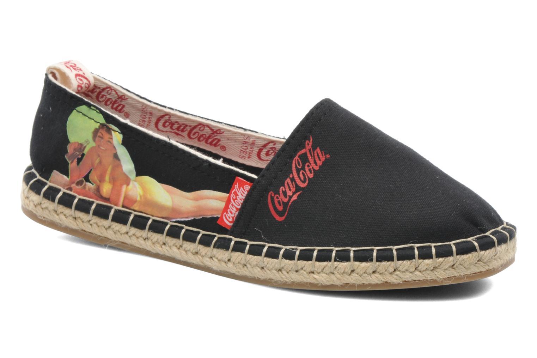 Espadrilles Coca-cola shoes Juta Retro schwarz detaillierte ansicht/modell