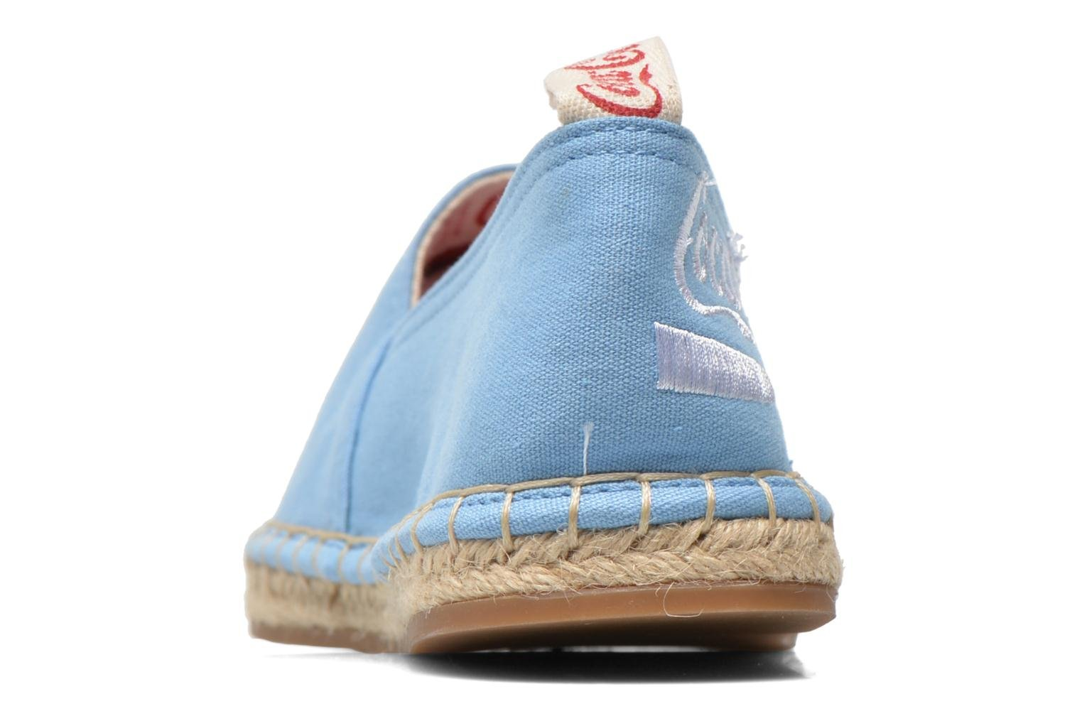 Espadrilles Coca-cola shoes Juta Classic W Blue view from the right