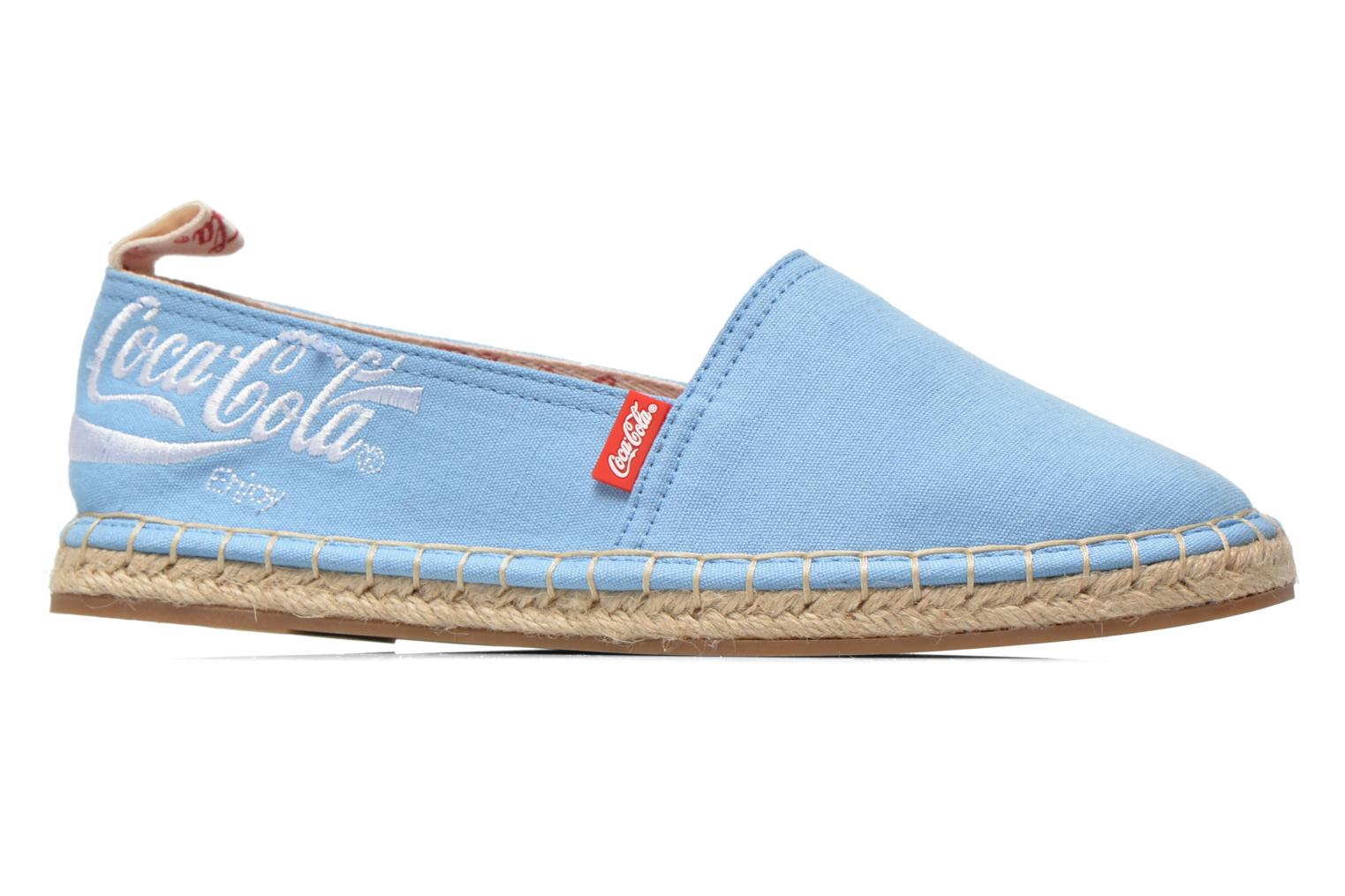 Espadrilles Coca-cola shoes Juta Classic W Blue back view