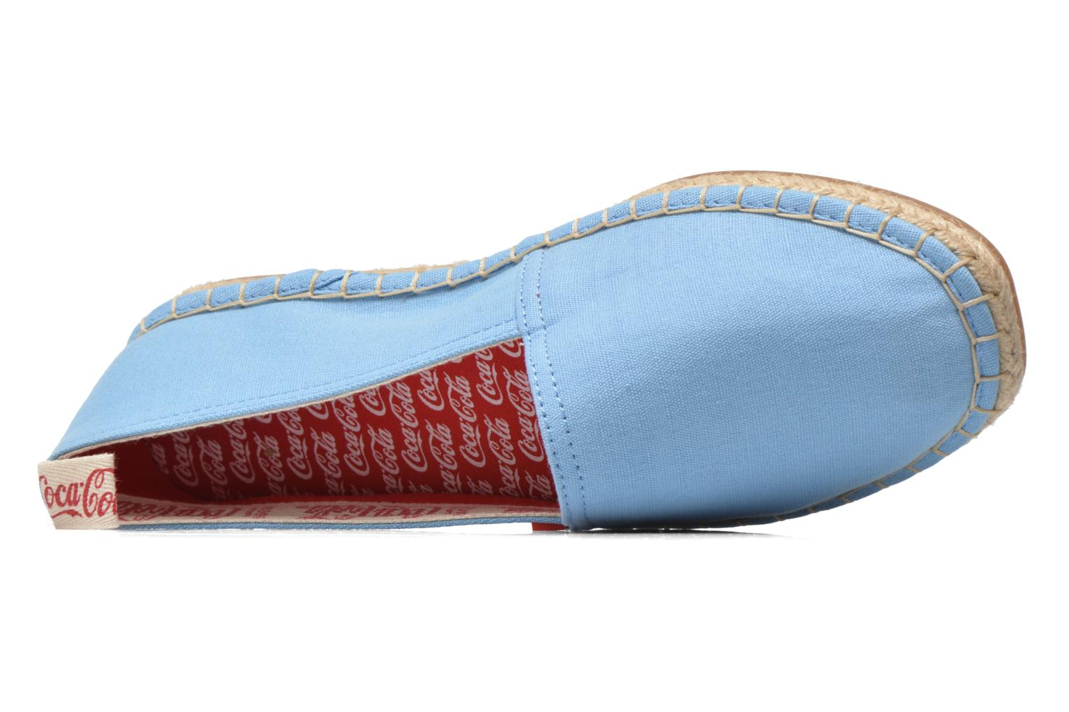 Espadrilles Coca-cola shoes Juta Classic W Blue view from the left