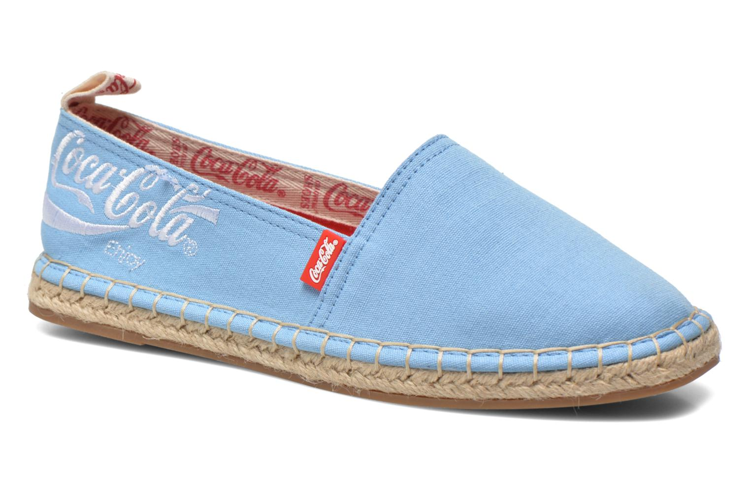 Espadrilles Coca-cola shoes Juta Classic W Blue detailed view/ Pair view