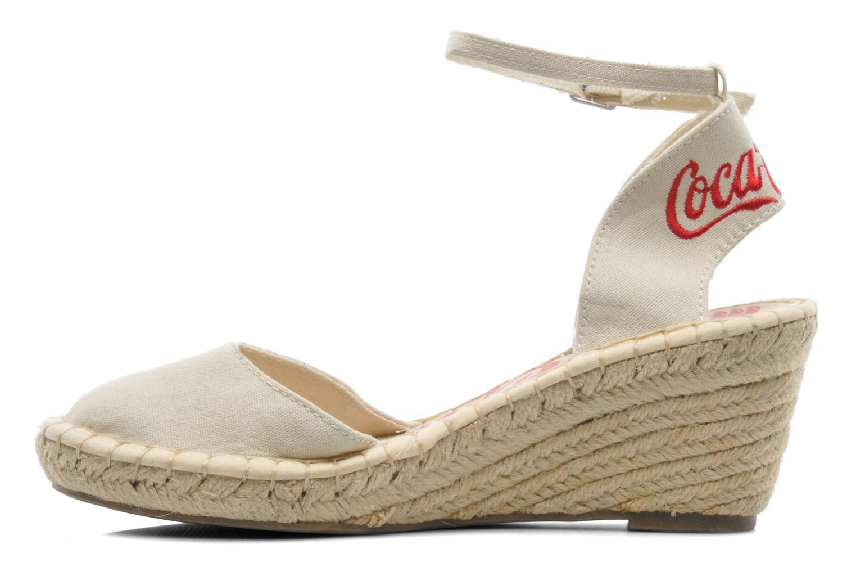 Sandals Coca-cola shoes Juta City Beige front view