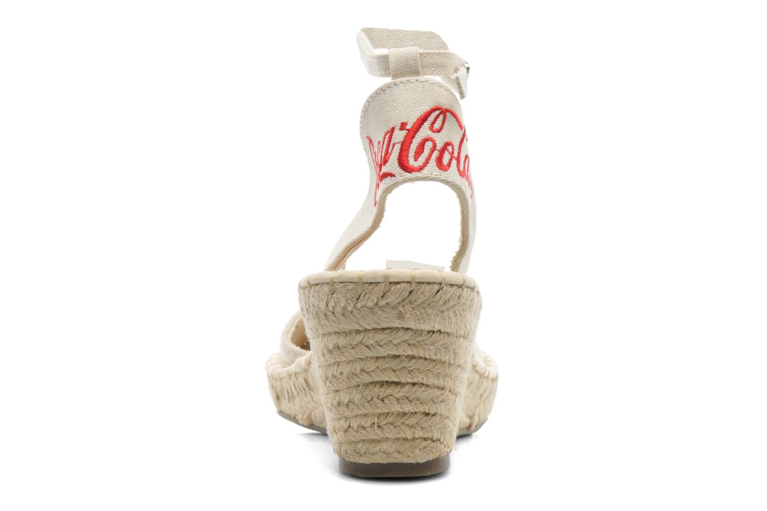 Sandals Coca-cola shoes Juta City Beige view from the right