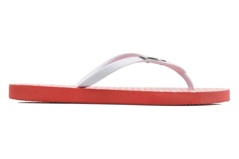 Tongs Coca-cola shoes Dots Rouge vue derrière