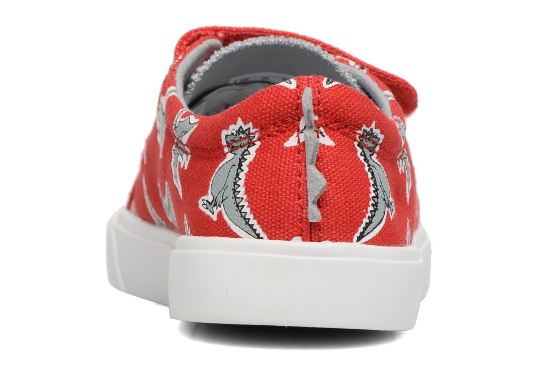 Sneakers Clarks Tricer Roar Rød Se fra højre