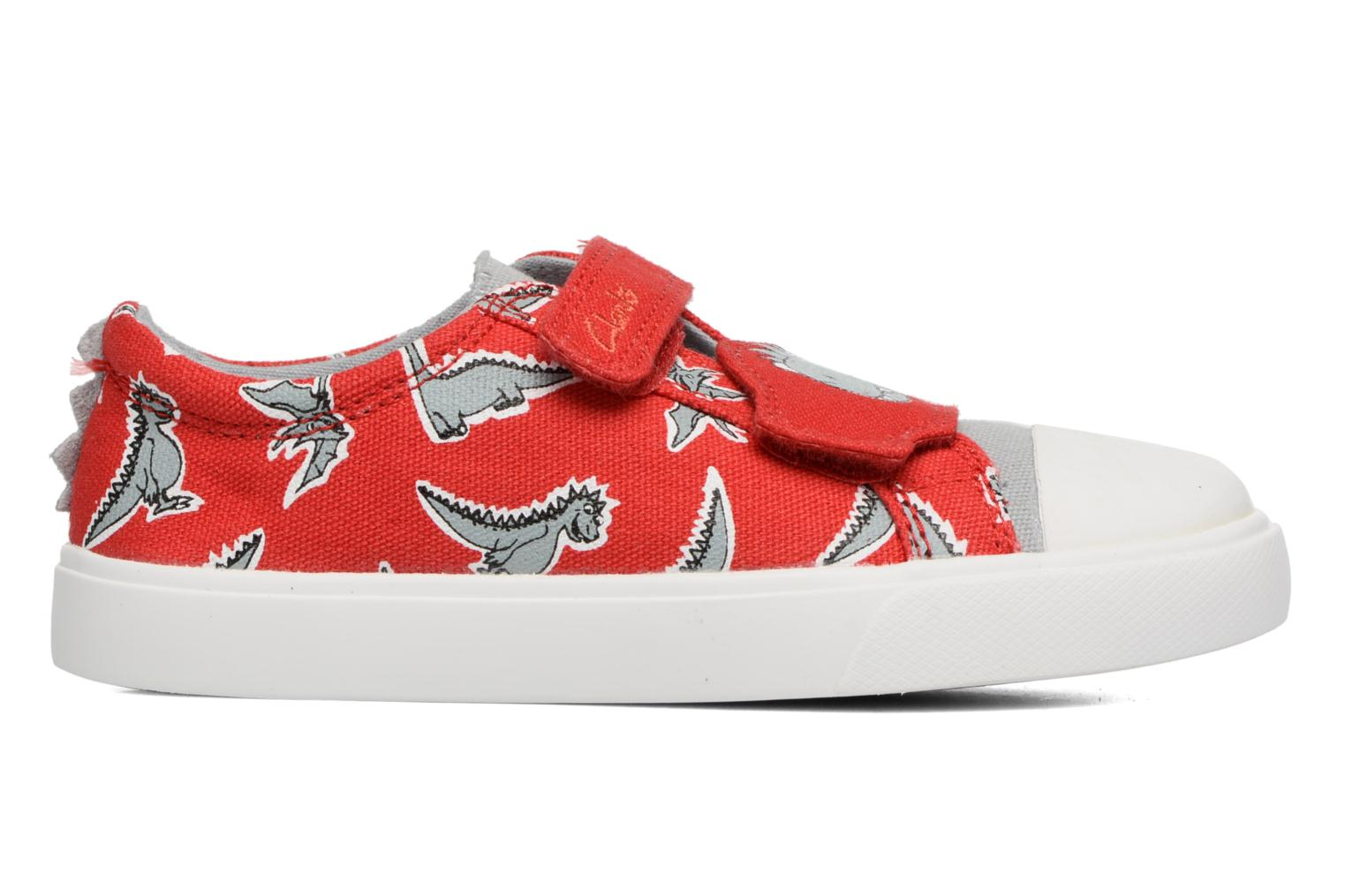 Sneakers Clarks Tricer Roar Rosso immagine posteriore