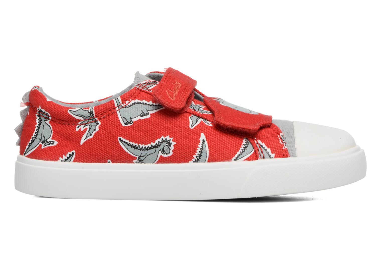 Sneakers Clarks Tricer Roar Rød se bagfra
