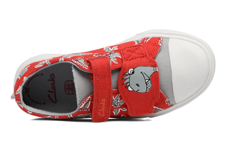 Sneakers Clarks Tricer Roar Rød se fra venstre
