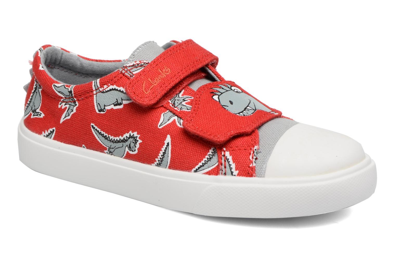 Sneakers Clarks Tricer Roar Rød detaljeret billede af skoene