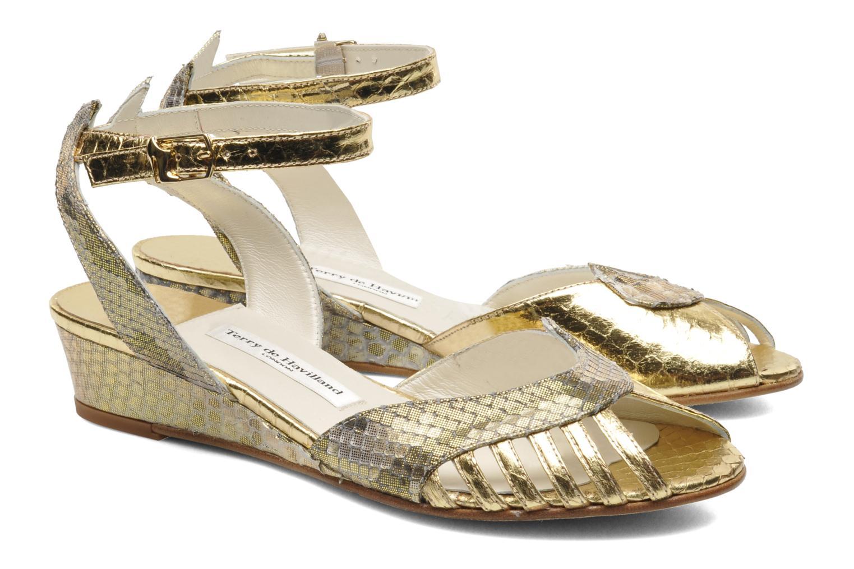 Sandalias Terry de Havilland Mini Margaux Oro y bronce vista 3/4