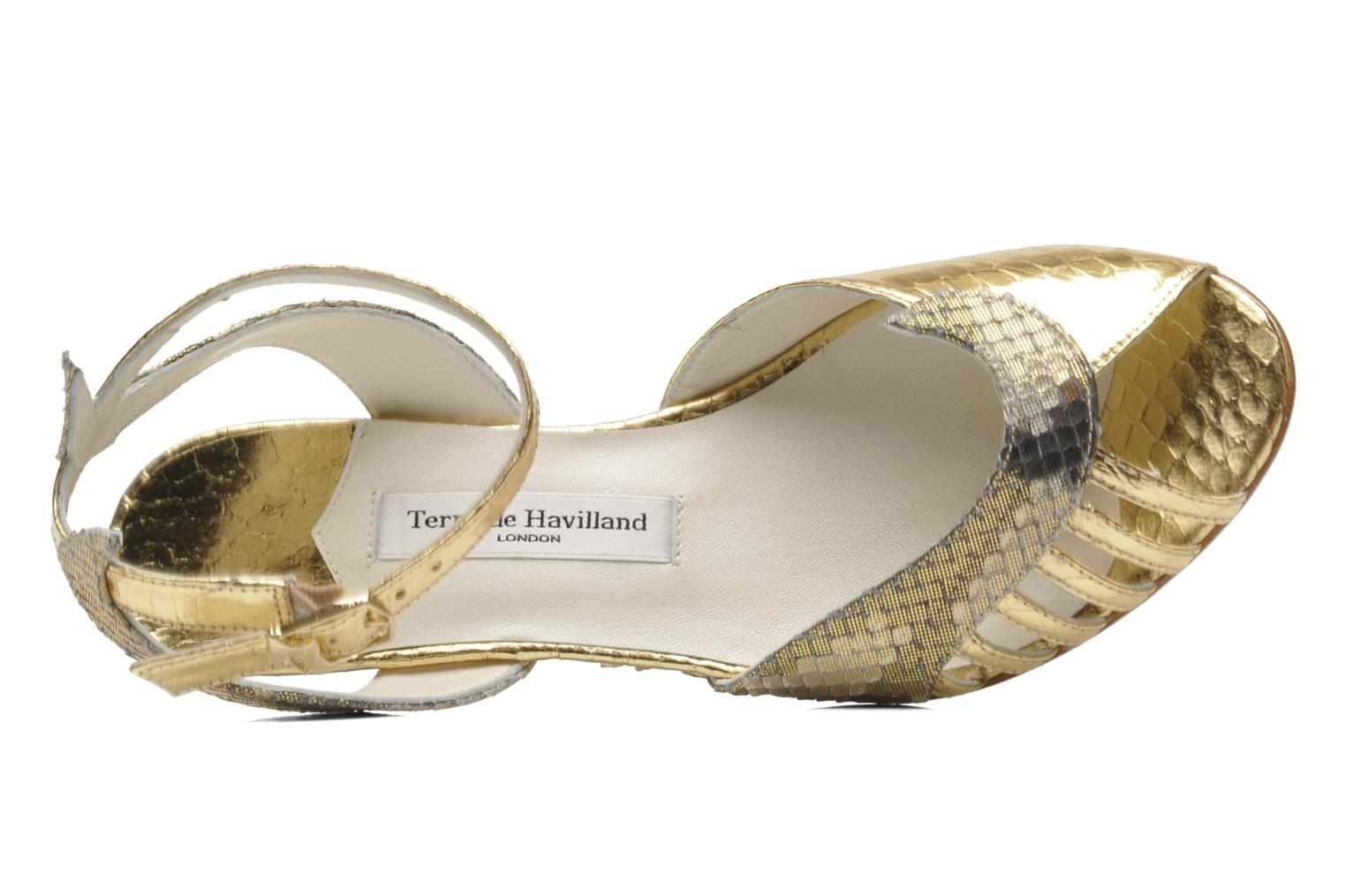 Sandalen Terry de Havilland Mini Margaux gold/bronze ansicht von links