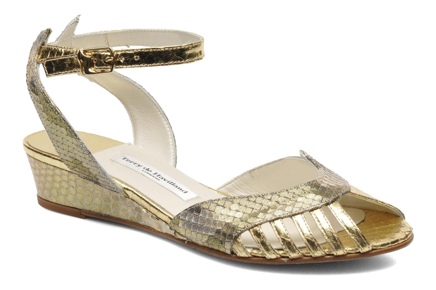Sandals Terry de Havilland Mini Margaux Bronze and Gold detailed view/ Pair view