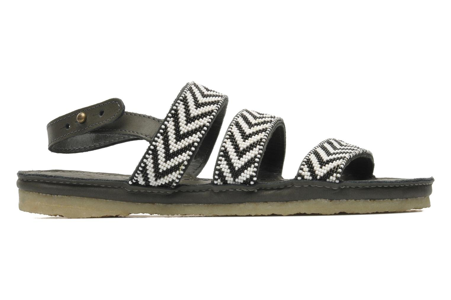 Sandals Laidback London Gatsby Black back view