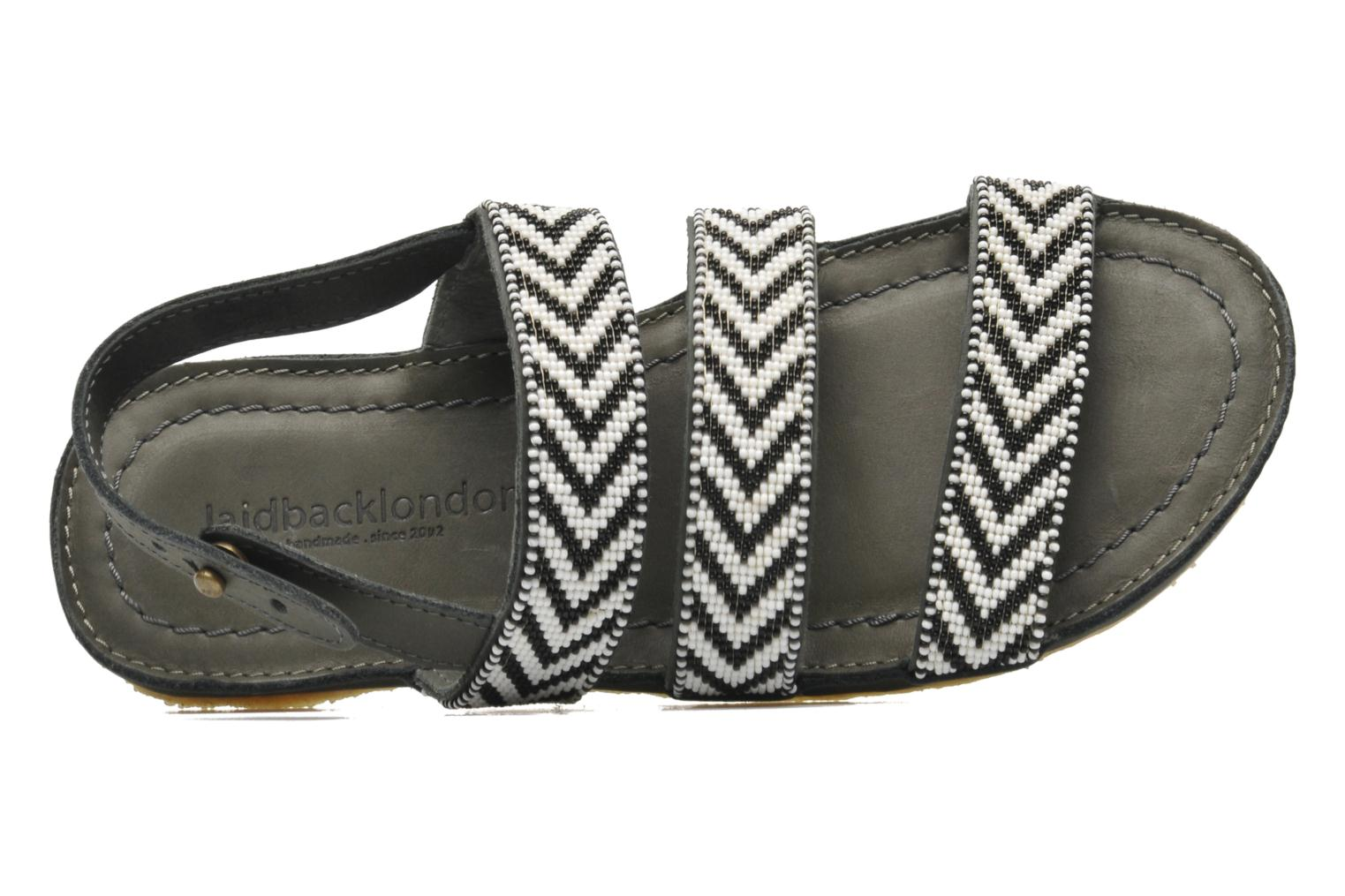 Sandals Laidback London Gatsby Black view from the left