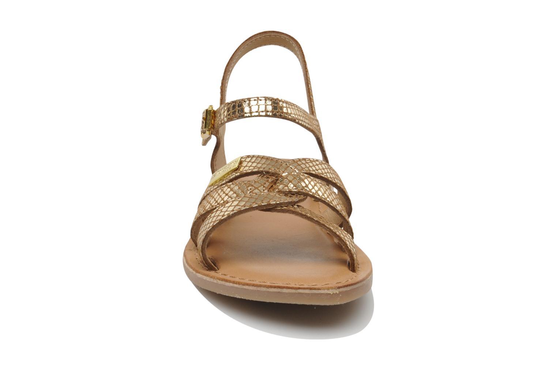 Sandaler Les Tropéziennes par M Belarbi Betise Bronze och Guld bild av skorna på