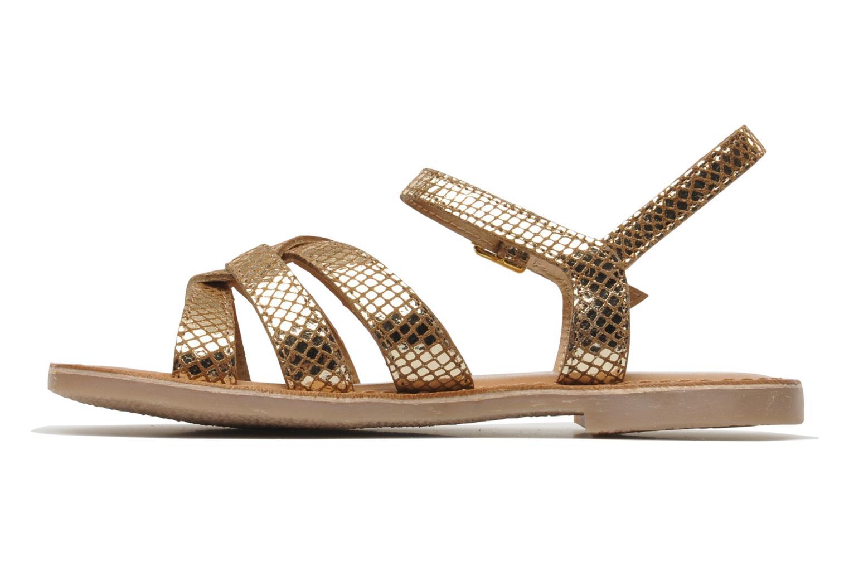 Sandals Les Tropéziennes par M Belarbi Betise Bronze and Gold front view