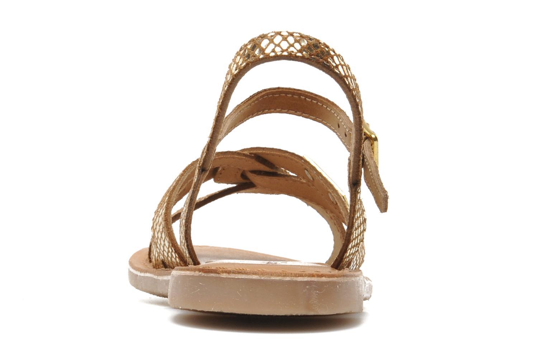 Sandaler Les Tropéziennes par M Belarbi Betise Guld og bronze Se fra højre