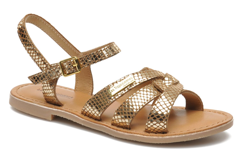 Sandals Les Tropéziennes par M Belarbi Betise Bronze and Gold detailed view/ Pair view
