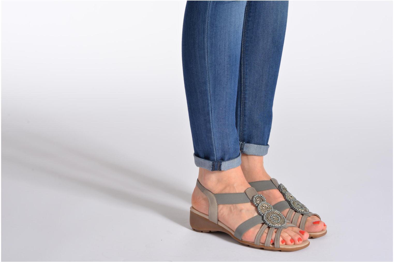 Sandales et nu-pieds Remonte Yolo R5250 Blanc vue bas / vue portée sac