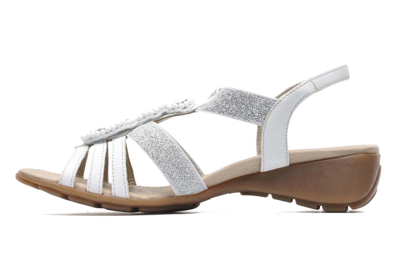 Sandales et nu-pieds Remonte Yolo R5250 Blanc vue face