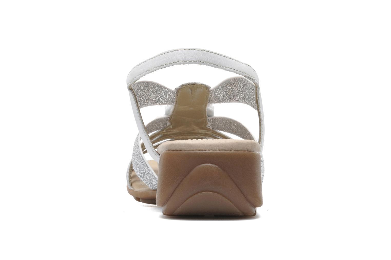 Sandales et nu-pieds Remonte Yolo R5250 Blanc vue droite