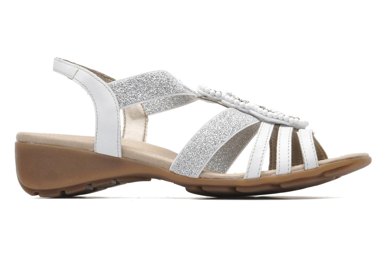 Sandales et nu-pieds Remonte Yolo R5250 Blanc vue derrière