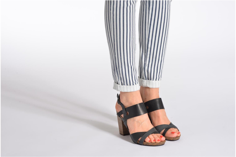 Sandales et nu-pieds Madison Rocal Noir vue bas / vue portée sac