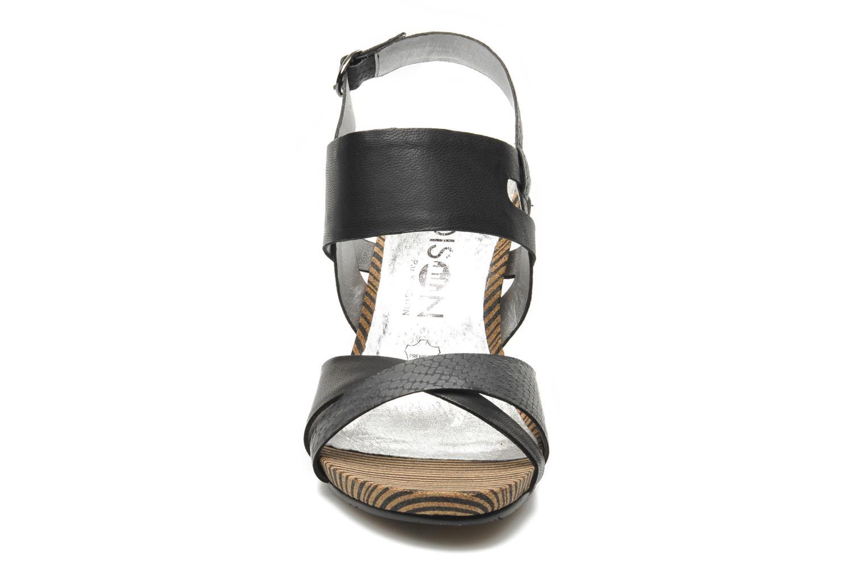 Sandales et nu-pieds Madison Rocal Noir vue portées chaussures