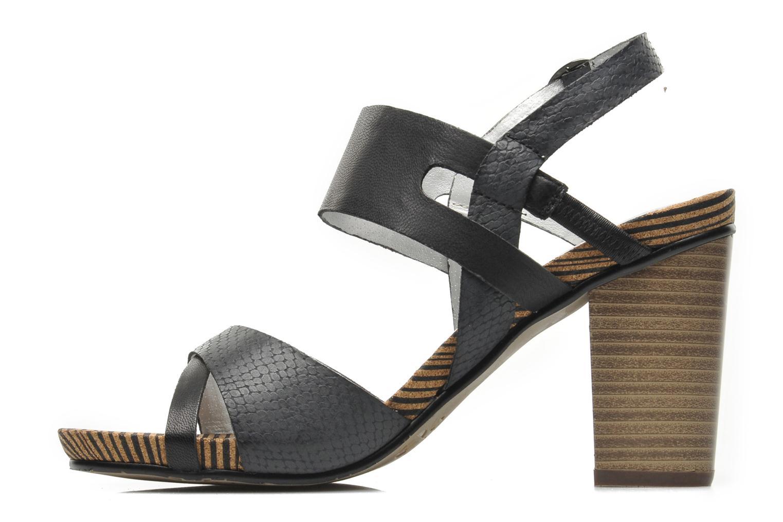 Sandales et nu-pieds Madison Rocal Noir vue face