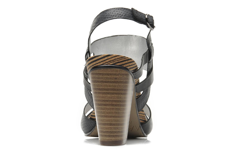 Sandales et nu-pieds Madison Rocal Noir vue droite