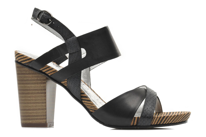 Sandales et nu-pieds Madison Rocal Noir vue derrière