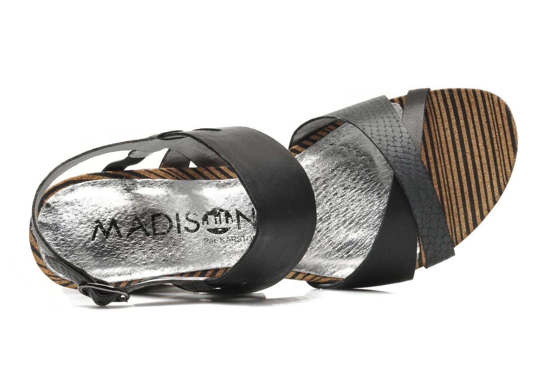 Sandales et nu-pieds Madison Rocal Noir vue gauche
