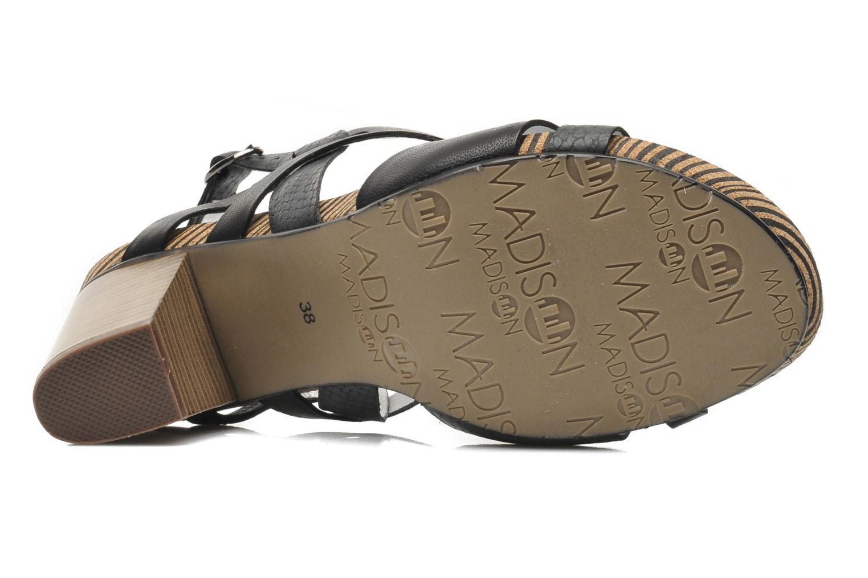 Sandales et nu-pieds Madison Rocal Noir vue haut