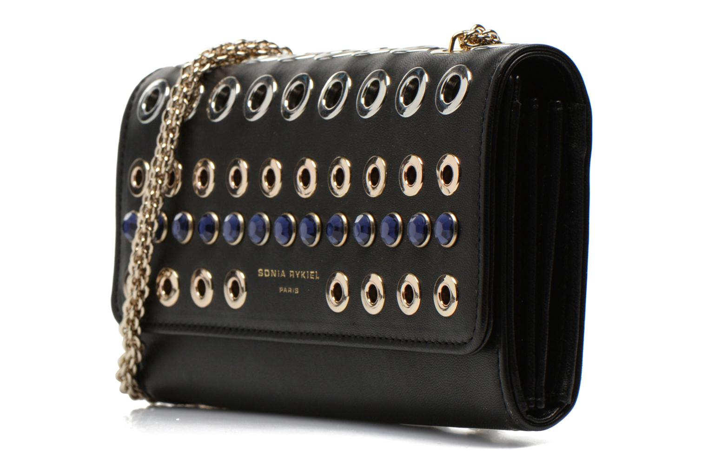 Sacs pochettes Sonia Rykiel DOMINO Pochette Compagnon Noir vue portées chaussures