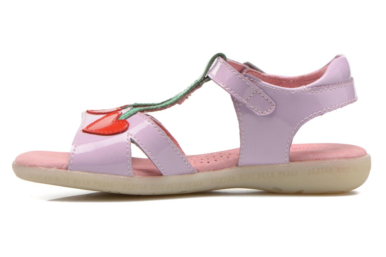 Sandales et nu-pieds Agatha Ruiz de la Prada Cereza Violet vue face