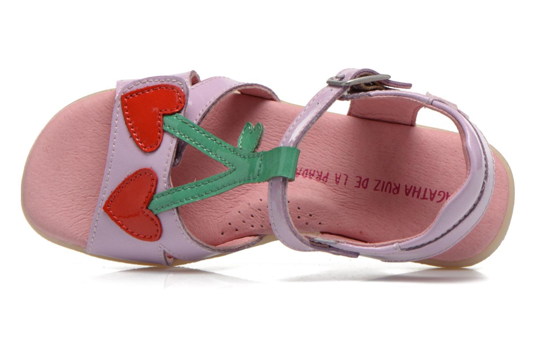 Sandales et nu-pieds Agatha Ruiz de la Prada Cereza Violet vue gauche